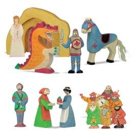 Pohádkové postavičky a rytíři