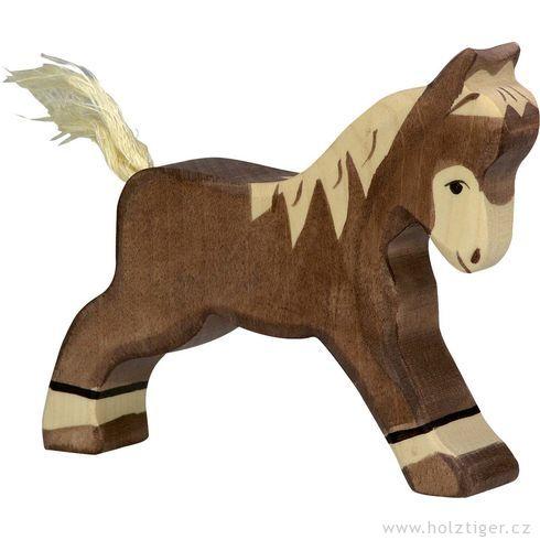 Běžící tmavě hnědé hříbě – zvířátko zedřeva - Holztiger