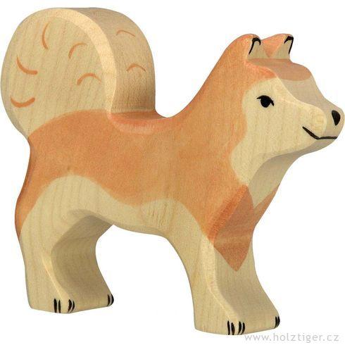 Sibiřský husky – zvířátko zedřeva - Holztiger