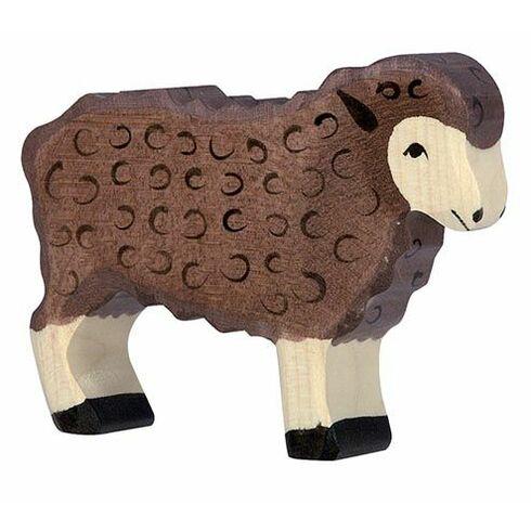Stojící Hnědá ovečka – zvířátko zedřeva - Holztiger