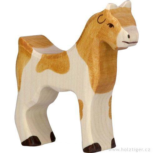 Stojící strakatá koza – domácí zvíře zedřeva - Holztiger