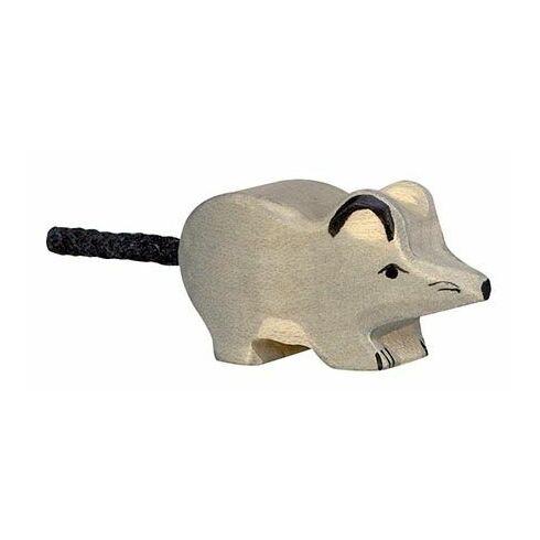 Šedá myška – dřevěné zvířátko - Holztiger
