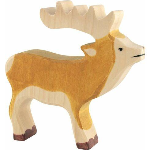 Jelen – lesní zvíře zedřeva - Holztiger