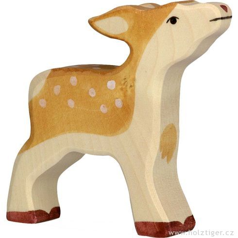 Srnče – lesní zvíře zedřeva - Holztiger