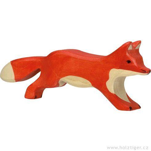 Běžící červená liška – dřevěné zvířátko zlesa - Holztiger