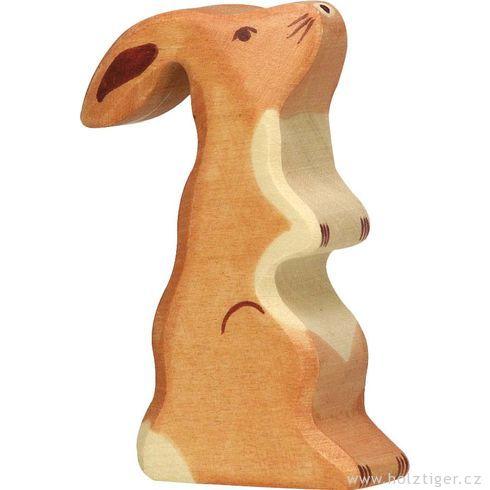 Zajíček nazadních – dřevěné zvířátko  - Holztiger