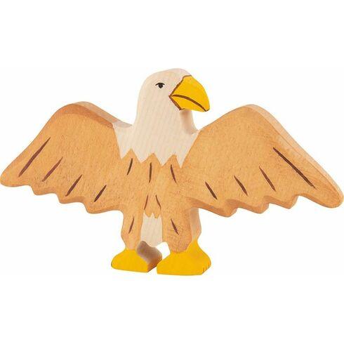 Orel sroztaženými křídly – pták vyřezaný zedřeva - Holztiger
