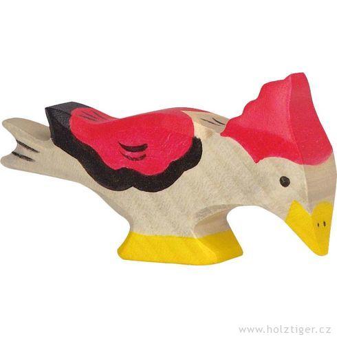 Zobající datel – pták vyřezaný zedřeva - Holztiger