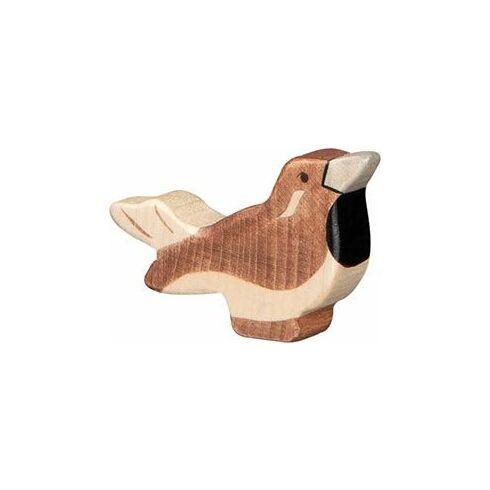 Vrabec – ptáček vyřezaný zedřeva - Holztiger