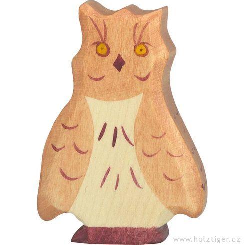 Sova hnědá – lesní dřevěné zvířátko - Holztiger
