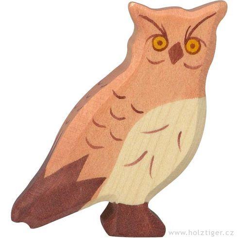 Výr – lesní dřevěné zvířátko - Holztiger