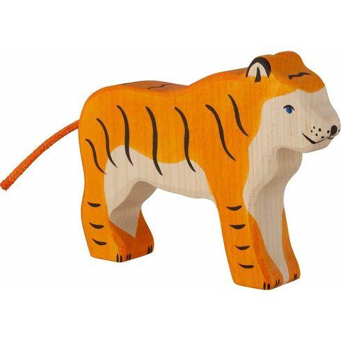 Stojící tygr – vyřezávané dřevěné zvířátko - Holztiger
