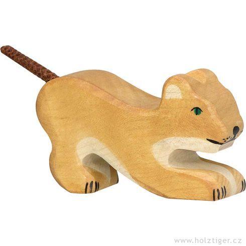 Hrající silvíče – dřevěné zvíře - Holztiger