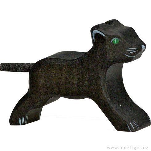 Levhartí mládě – dřevěné zvíře - Holztiger
