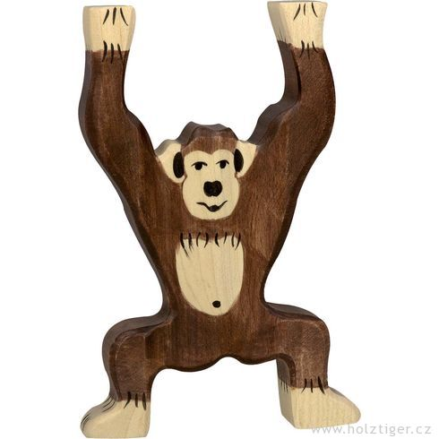 Stojící šimpanz – dřevěná hračka - Holztiger