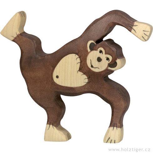 Hrající sišimpanz – dřevěná hračka - Holztiger