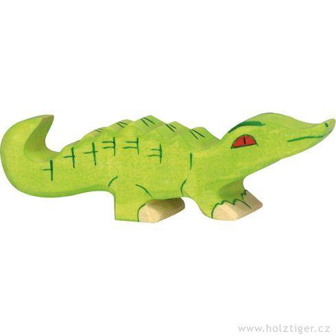 Malý krokodýlek – dřevěné zvíře - Holztiger