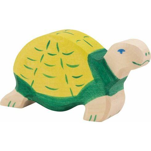 Zelená želva – dřevěné zvíře - Holztiger