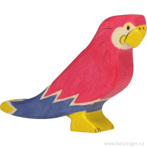 Papoušek – dřevěné zvíře - Holztiger