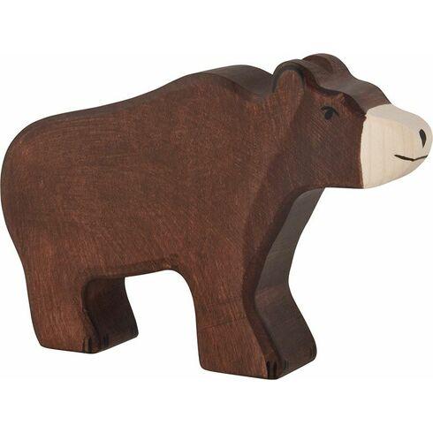 Hnědý medvěd – dřevěné zvíře - Holztiger