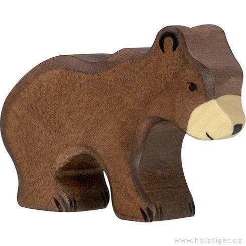 Malé hnědé medvídě – dřevěné zvíře - Holztiger