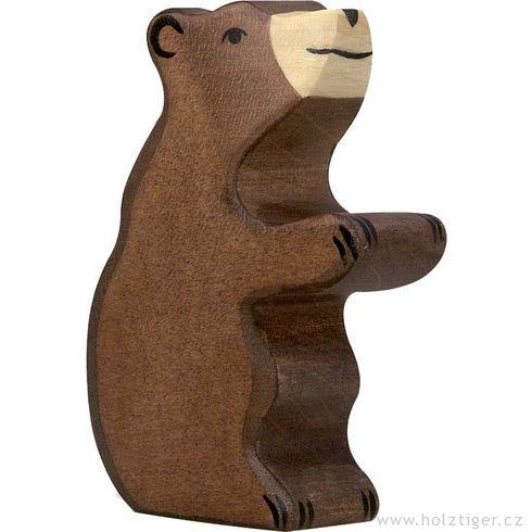 Malé stojící medvídě – dřevěné zvíře - Holztiger