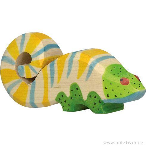 Chameleon – vyřezávané zvířátko zedřeva - Holztiger