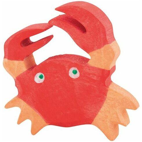 Červený krab – dřevěná hračka - Holztiger