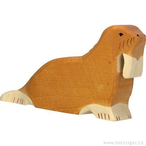 Mrož – dřevěná hračka - Holztiger
