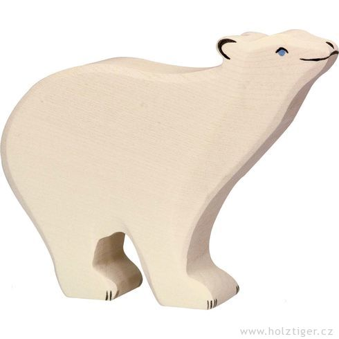 Stojící lední medvěd – dřevěná hračka - Holztiger