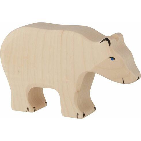 Lední medvěd krmící se– dřevěná hračka - Holztiger