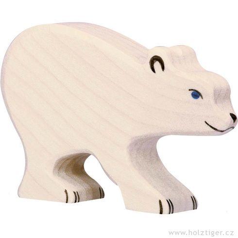 Mládě ledního medvěda – dřevěná hračka - Holztiger