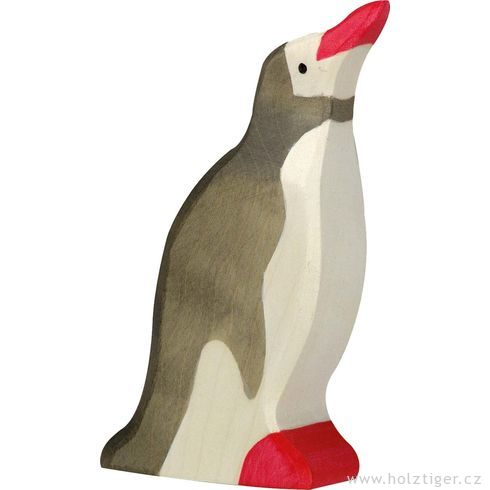 Tučňák sezvednutou hlavou – dřevěná hračka - Holztiger