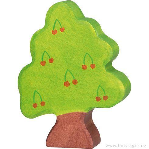 Třešeň malá – dřevěná dekorace - Holztiger