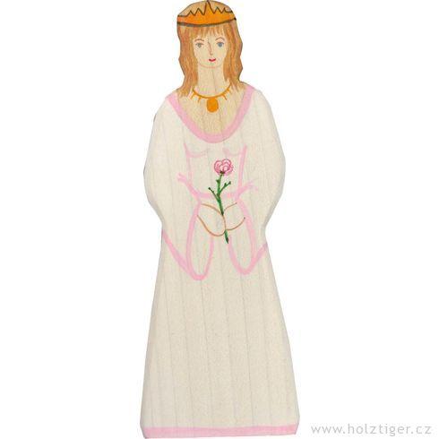 Princezna – dřevěná vyřezávaná figurka - Holztiger
