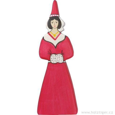 Hradní slečna – dřevěná vyřezávaná figurka - Holztiger