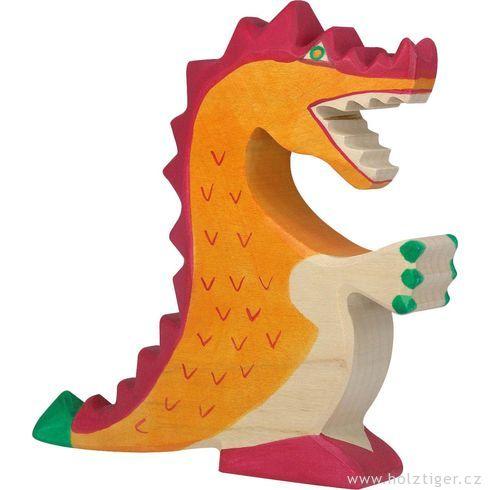 Červený drak – fantazijní dřevěná figurka - Holztiger