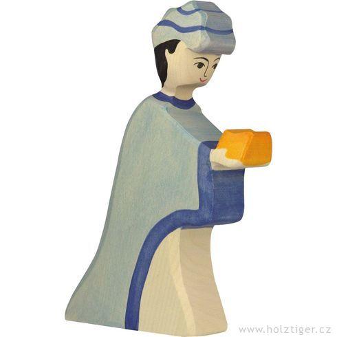 Kašpar (série I)– biblická dřevěná postava - Holztiger