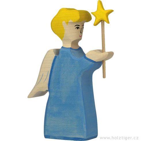Anděl shvězdou (série I)– biblická dřevěná postava - Holztiger