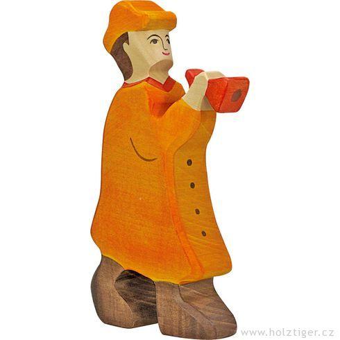 Pastýř sflétnou (série I)– biblická dřevěná postava - Holztiger