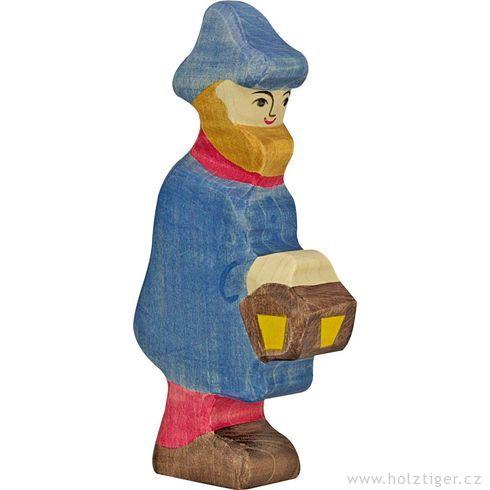 Pastýř slampou (série I)– biblická dřevěná postava - Holztiger