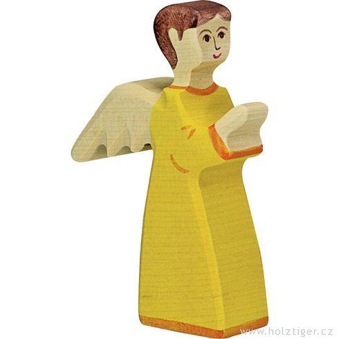 Anděl žlutý (série II)– biblická postava zedřeva - Holztiger