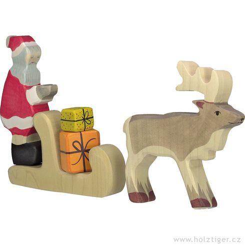 Vánoční muž – dřevěná figurka - Holztiger