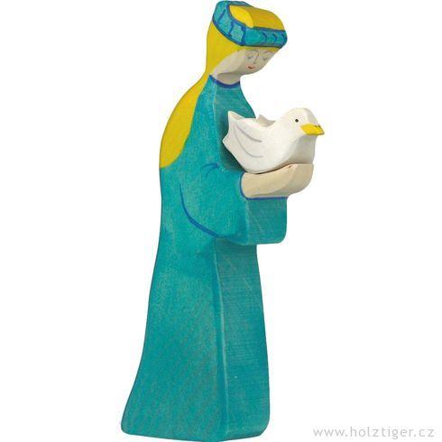 Noemova žena – ručně malovaná figurka zedřeva - Holztiger