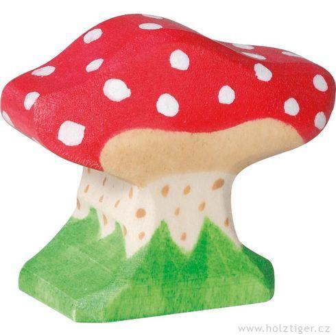 Malá muchomůrka – dřevěná houba - Holztiger