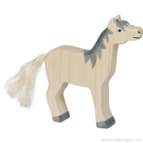 Bílý koník sšedou hřívou - Holztiger