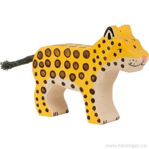 Mládě geparda – dřevěné zvířátko - Holztiger