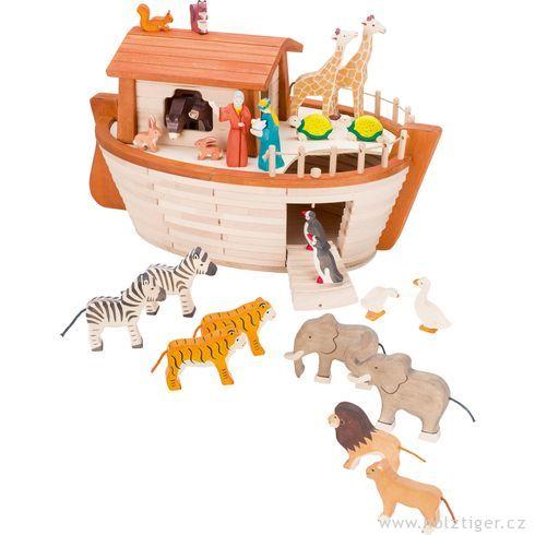 Noemova archa – dřevěná loď (bez vyobrazené dekorace) - Holztiger