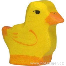 Kuřátko – vyřezávaná dřevěná hračka