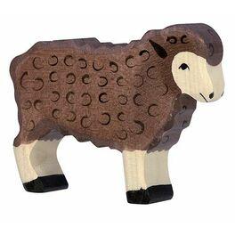 Ovečka stojící, tmavě hnědá – zvířátko zedřeva